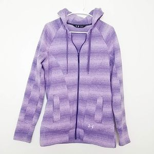 UA Wintersweet Full Zip Hiking Hoodie Purple #3928